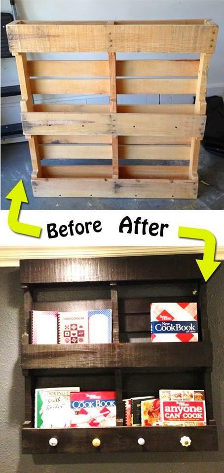 Antes y después : Reciclaje de palet de madera