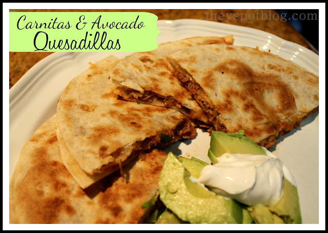 Crockpot, carnitas, quesadillas, avocado, Mexican food