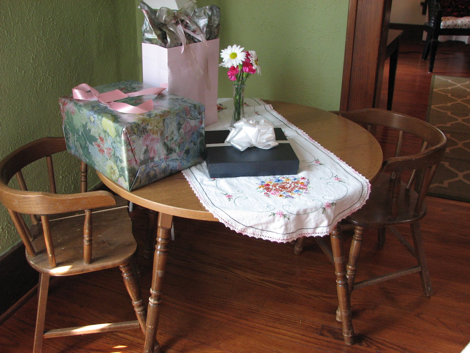 The Cottager: children\'s table and chair set for my little lady...
