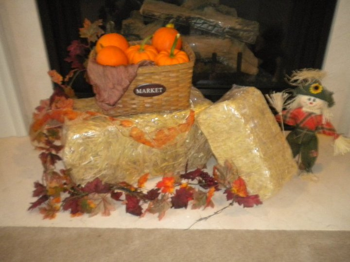 Fake Hay Bales For Decoration Home Decorating Ideas