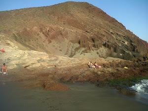 la Montaña Roja del Medano de Tenerife