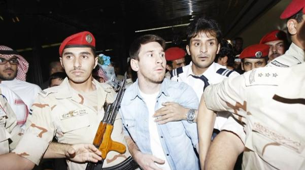 Lionel Messi Arrested - YouTube