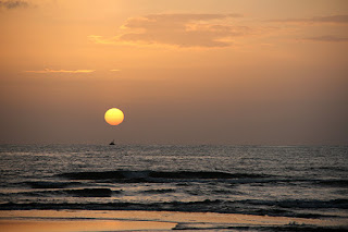 Photograph of Sunset at Mobor beach in South Goa by Manju panchal