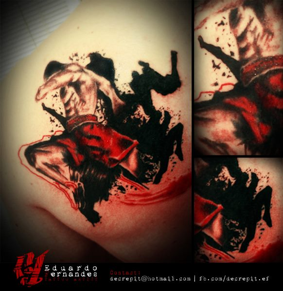 muay thai tattoo tattoos eduardo fernandes. Black Bedroom Furniture Sets. Home Design Ideas