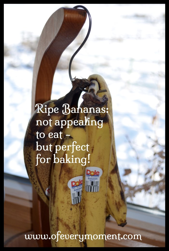 Ripe bananas are great for baking