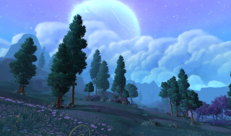 screenshot from WoD beta, Shadowmoon Valley
