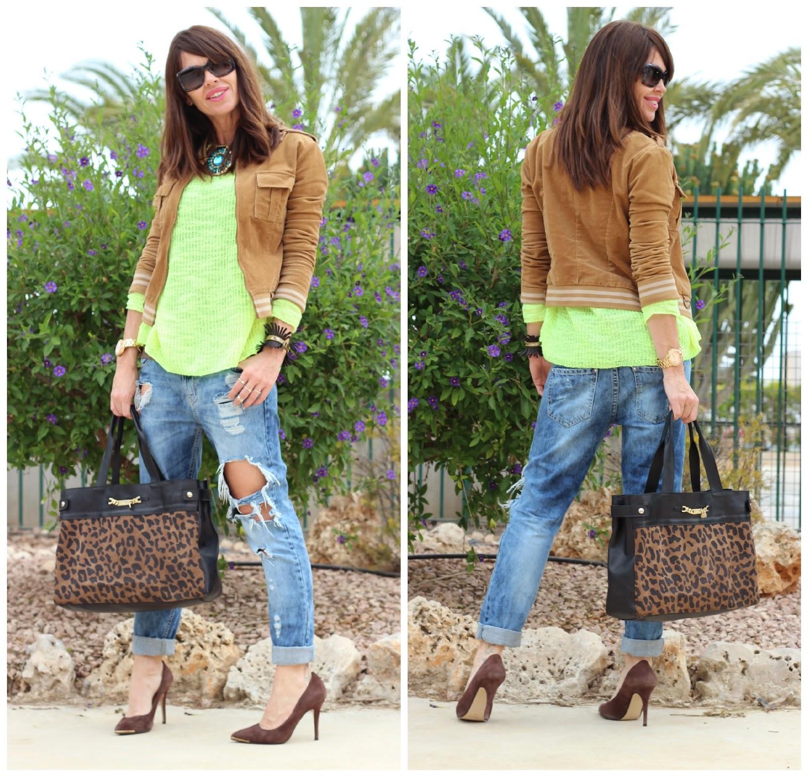 Outfit Primavera 2014 - Fluor + camel