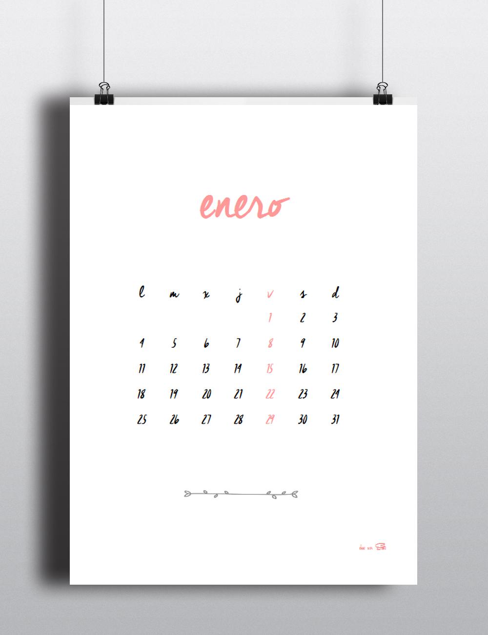 ¡Gratis! Calendario 2016
