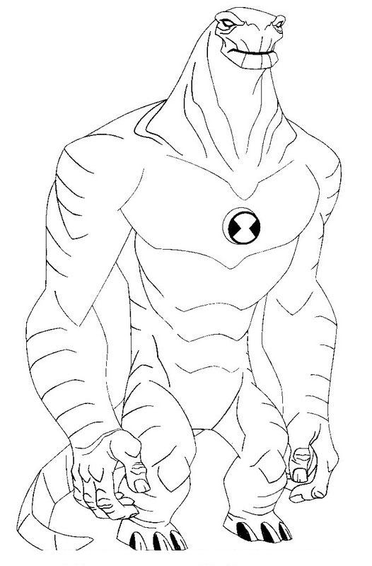 coloring pages ben 10 - photo#5