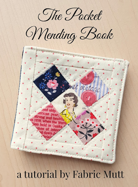 Pocket Mending Book Tutorial by Heidi Staples for Fabric Mutt
