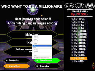 Rp1Milyar Di Game Who wants to be a Millionaire Indonesia | FACEBOOK ...