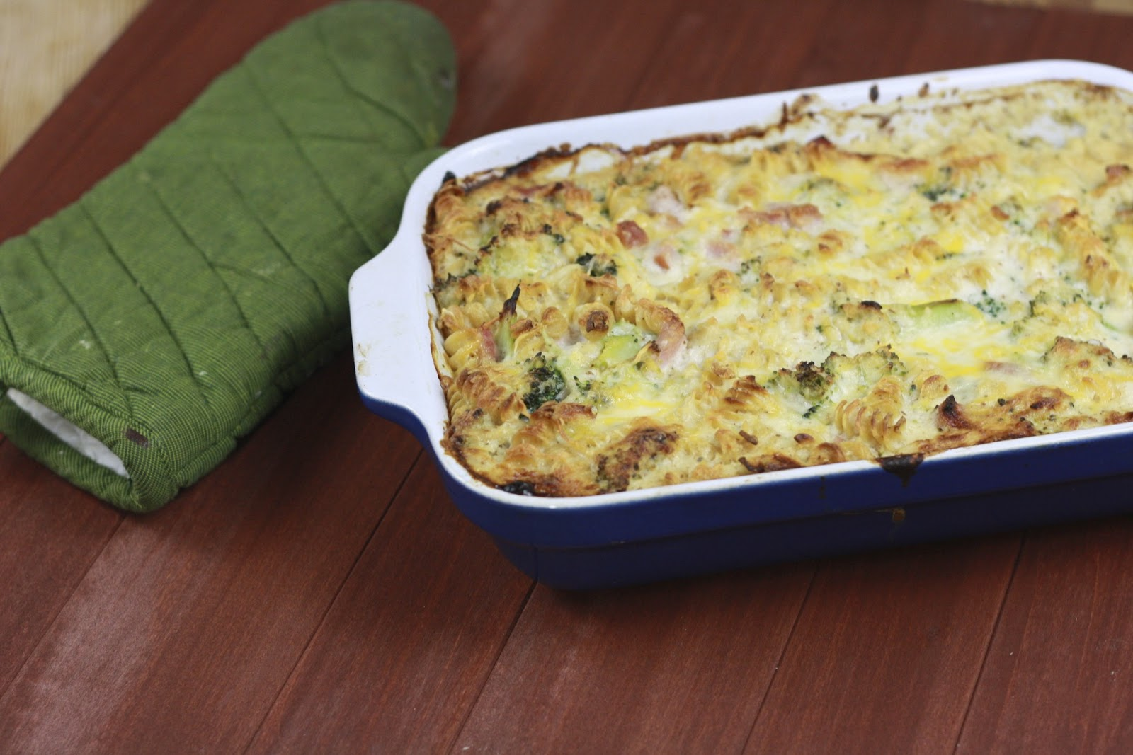 Baked Pasta with Broccoli, Ham, and Cheesy-Creamy Cauliflower Sauce
