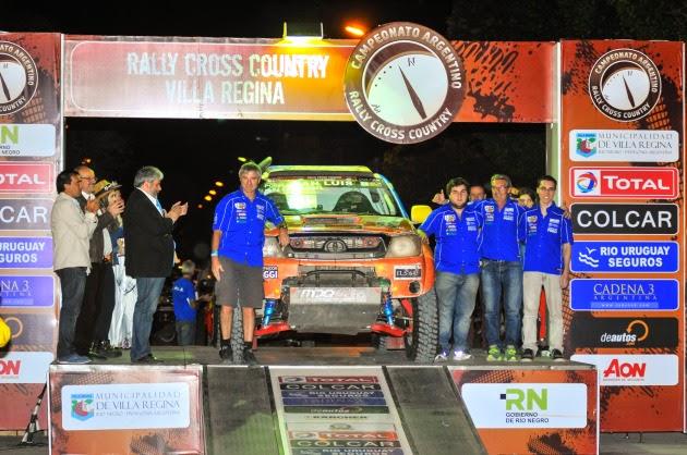 Gándara campeón argentino de Rally Cross Country