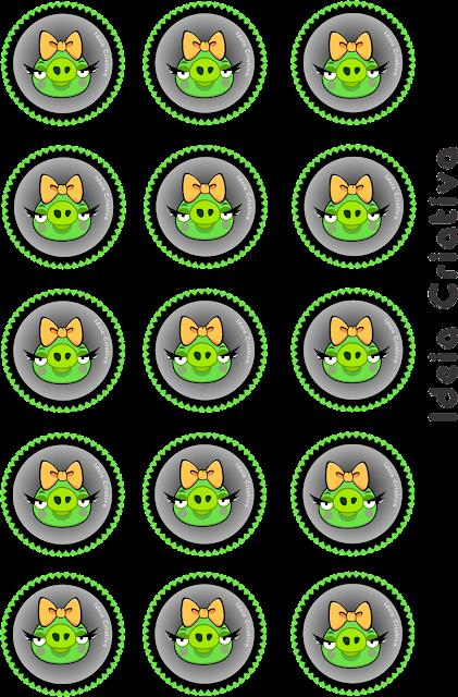 Toppers de Aniversário Angry Birds Green