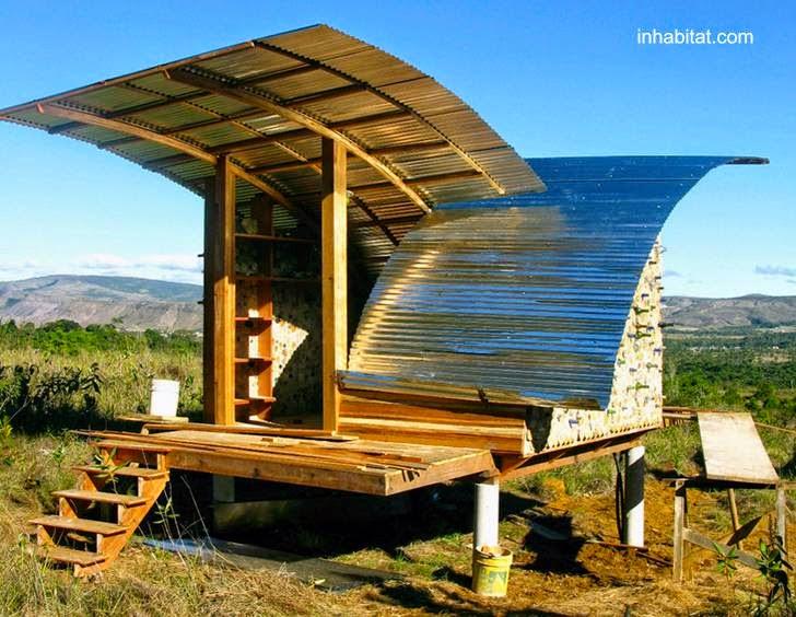 Cabaña ecológica pequeña en Venezuela