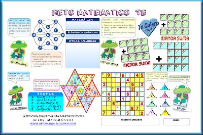 criptoaritmética, alfamética, criptosuma, Buscapalabra, Palabras ocultas, Sudoku, Sudoku Estrella, Sudoku X, Variantes del Sudoku, Descubre el número, El número escondido, Jugando con triángulos