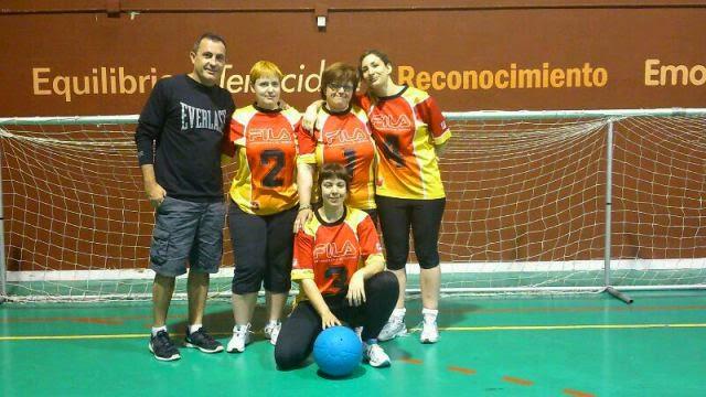 Imagen de archivo del equipo femenino de goalball de Aragón