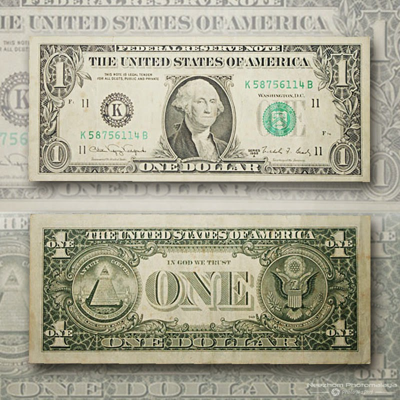 USA 1 Dollar banknote
