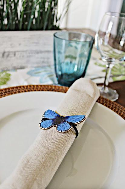 butterfly napkin rings