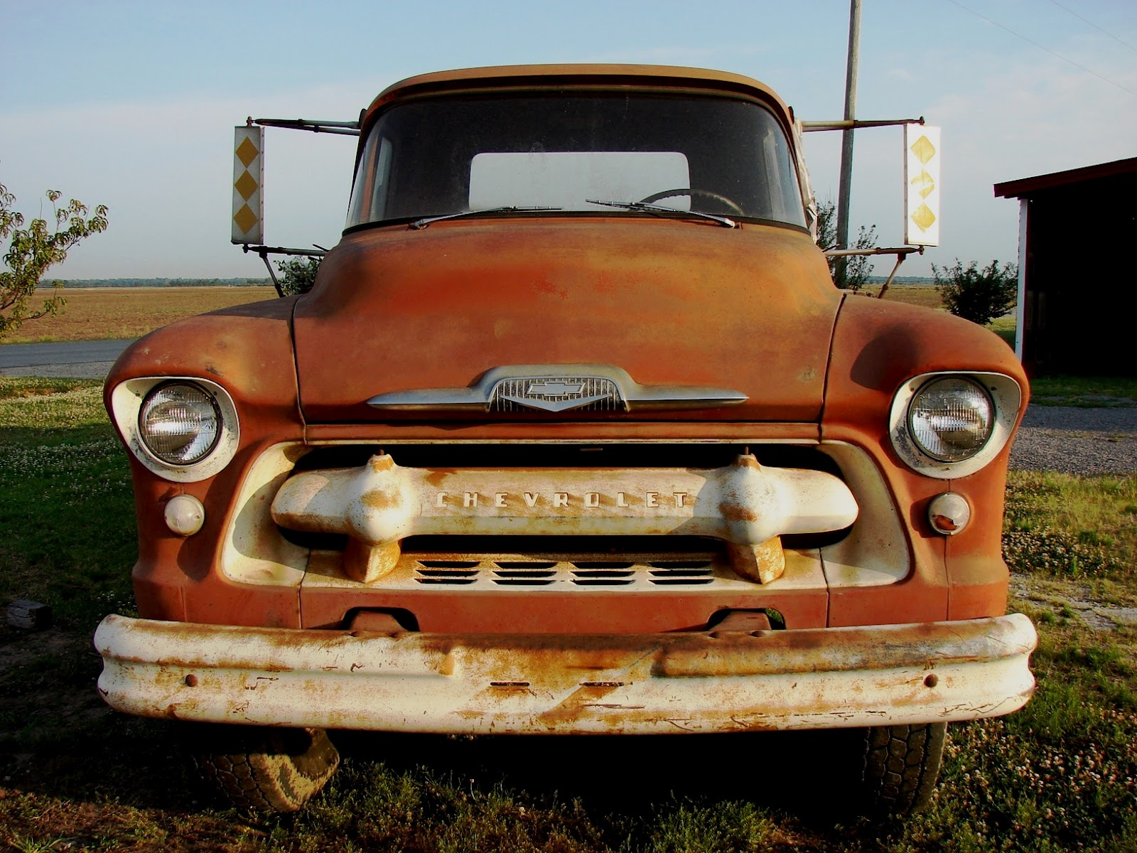 The Country Farm Home: The 1956 Chevy Farm Truck Comes Home