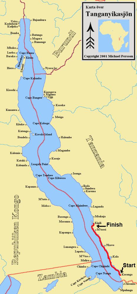 Lake Tanganyika Map