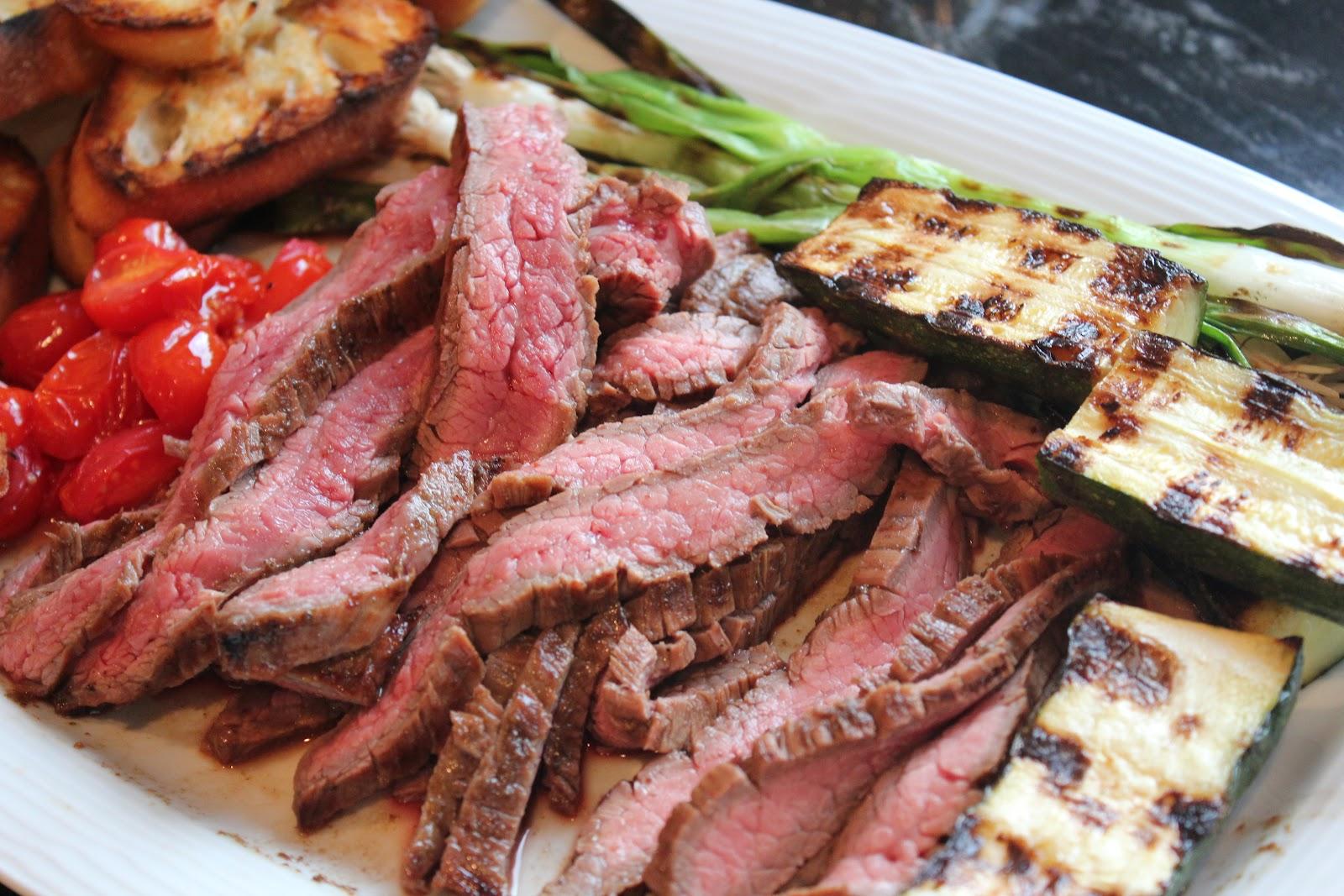 Delicious Dishings: Balsamic-Marinated Flank Steak