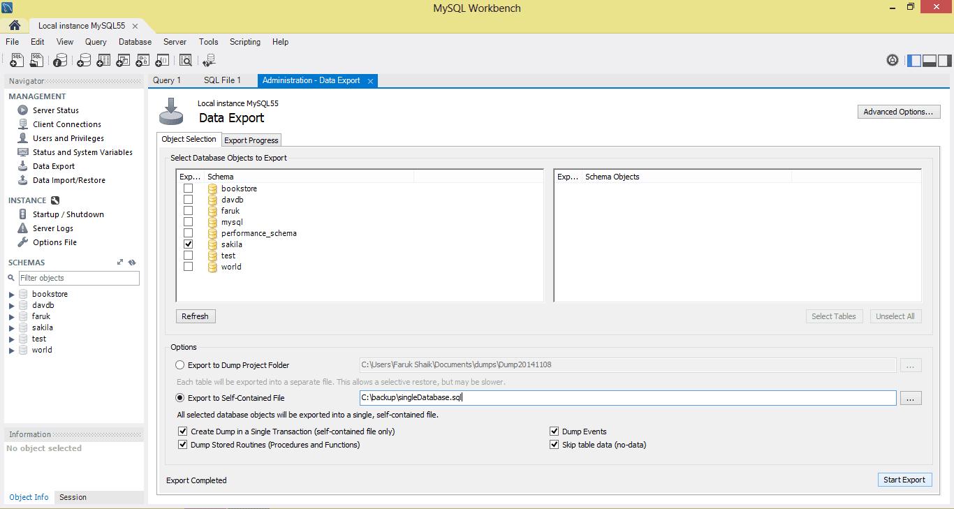 post backup import