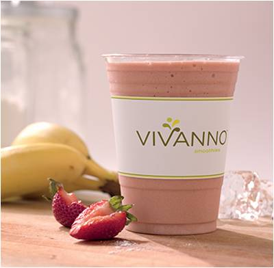 starbucks, smoothie, strawberry, banana, vivanno