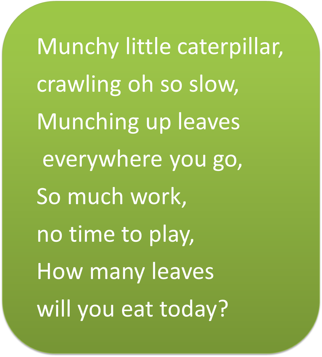 Meet Munchy Hungry Caterpillar on Spring Songs For Preschoolers