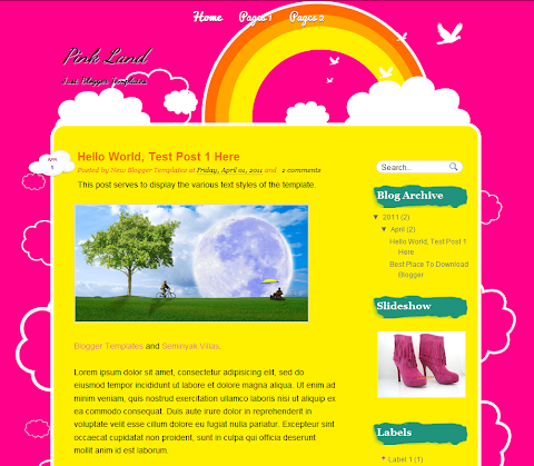 Pink Land Blogger Theme