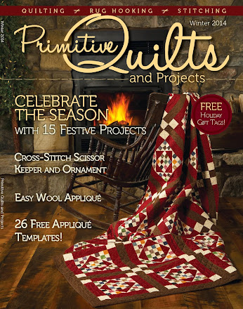 See my FREE punch needle pattern in the current issue of Primitive Quilts and Projects magazine