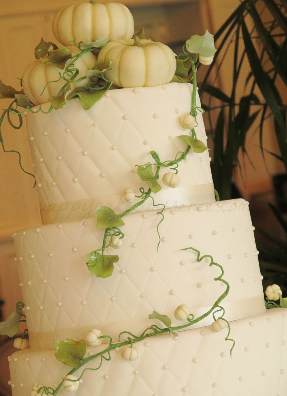 White Pumpkin Wedding Cake – Renee Conner Cake Design