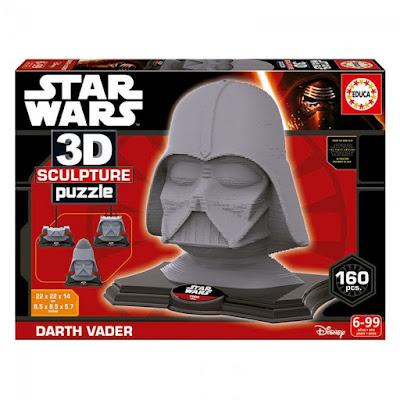 TOYS : JUGUETES - 3D Sculpture : Star Wars Puzzle Darth Vader El Despertar de la Fuerza | Educa 16500 | A partir de 6 años Comprar en Amazon España