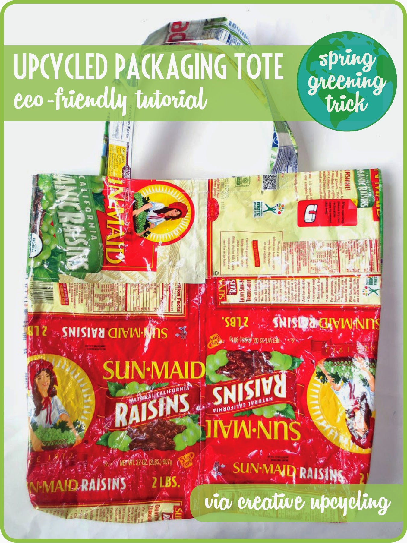 Create a Cute Tote Bag from Packaging