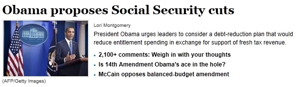 Obama cuts Social Security