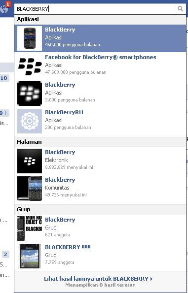 UPDATE STATUS FB PAKAI APPLIKASI BB(Blackberry)