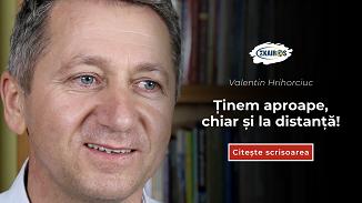 Valentin Hrihorciuc 🔴 Ținem aproape, chiar și la distanță!