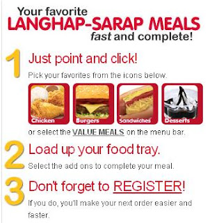 Jolibee Delivery.com procedures - Jollibee menu