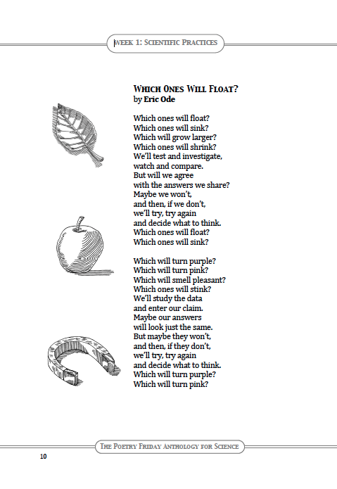 From 3rd Grade, Week 1 in The Poetry Friday Anthology for Science.