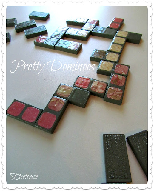 #mod podge, dominoes, decoupage, vintage games
