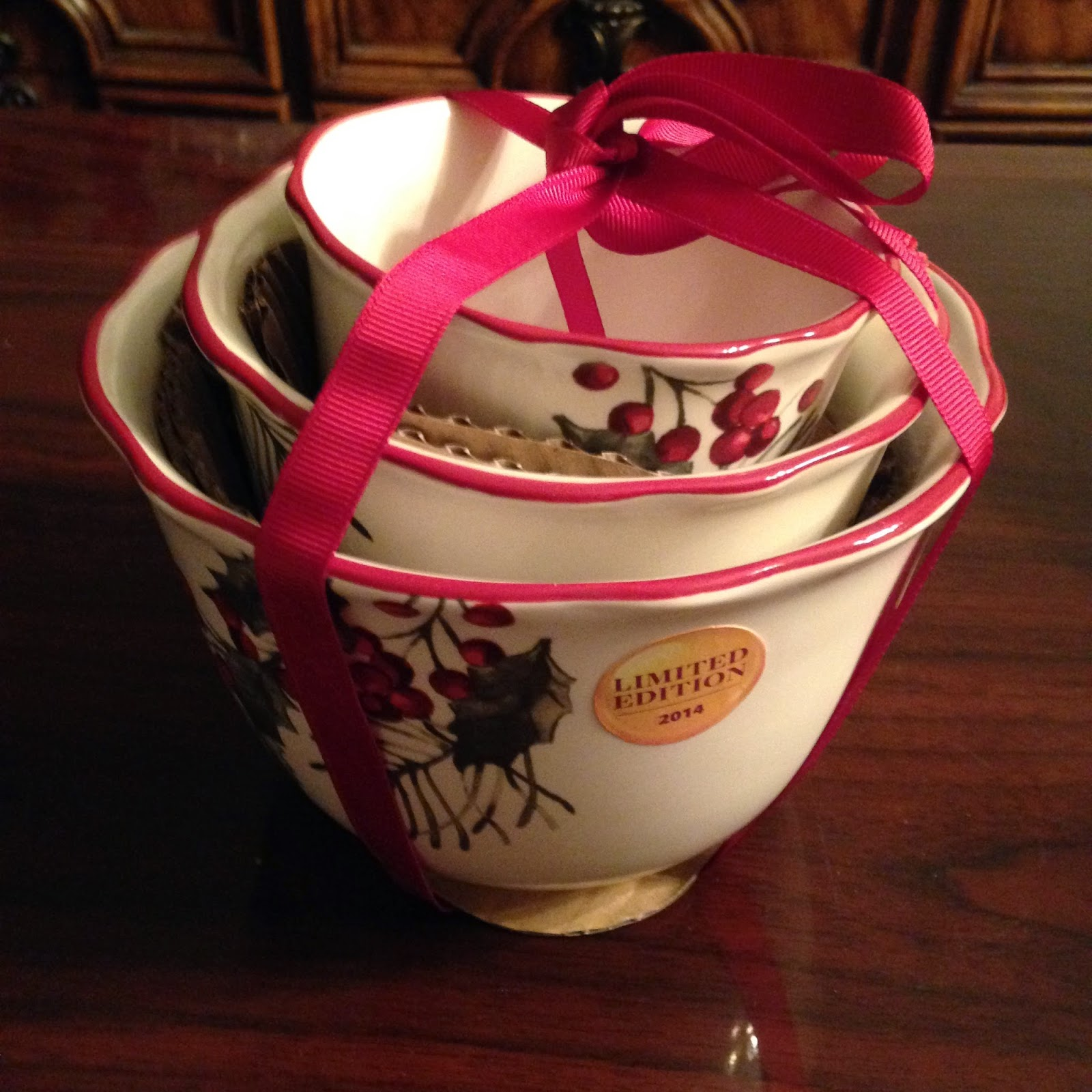 2014 better homes and gardens christmas nesting bowl set 748 in store only
