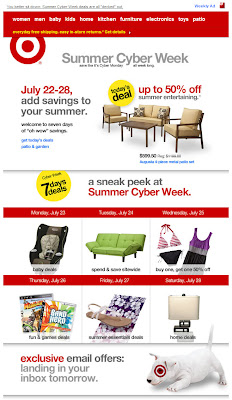 July 22, 2012 Target email