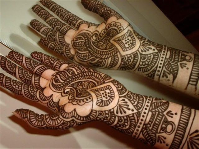 Arabic Bridal Hand Mehndi designs