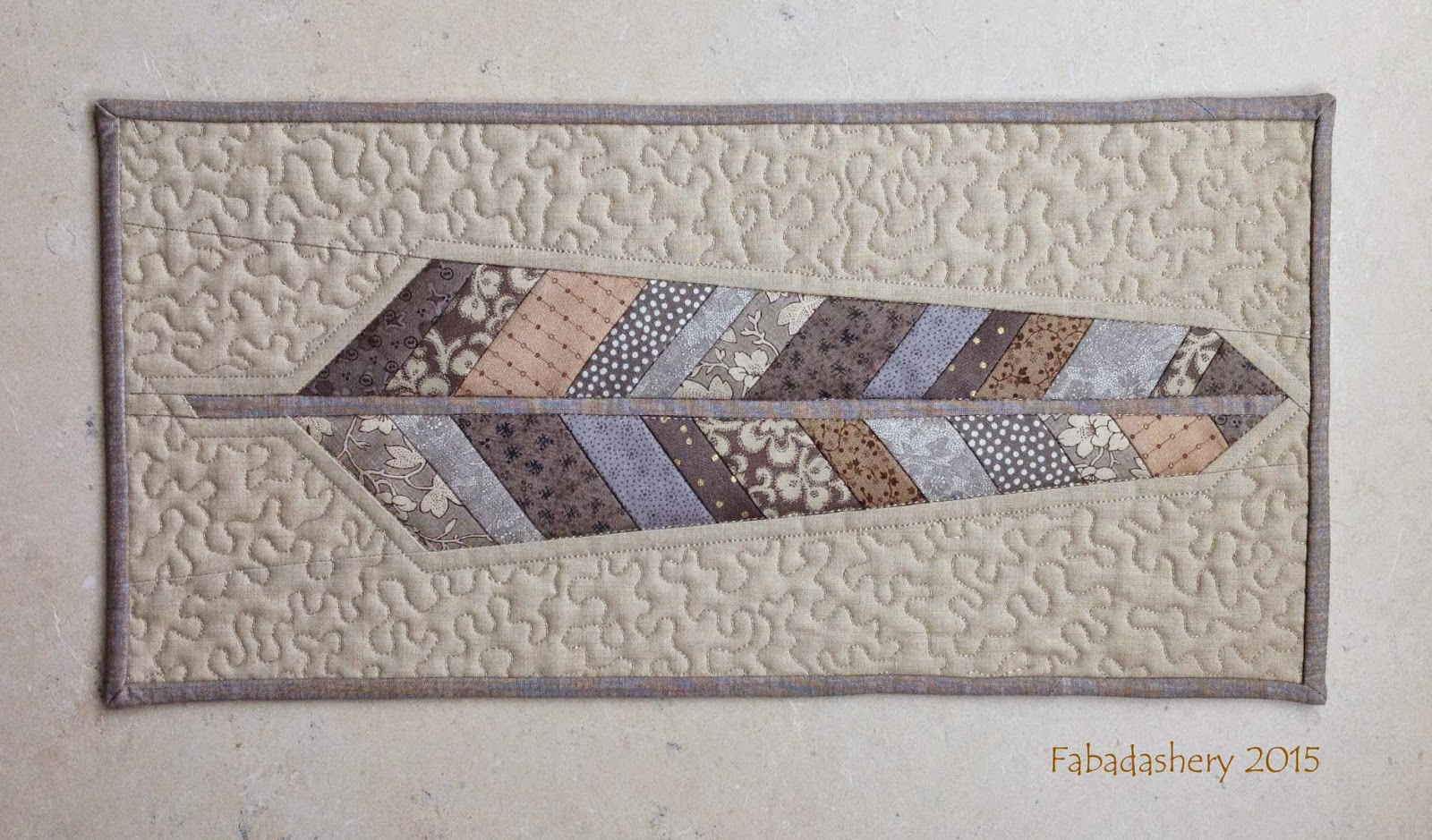 Anna Marie Horner Neutral Scrap Fabric Feather
