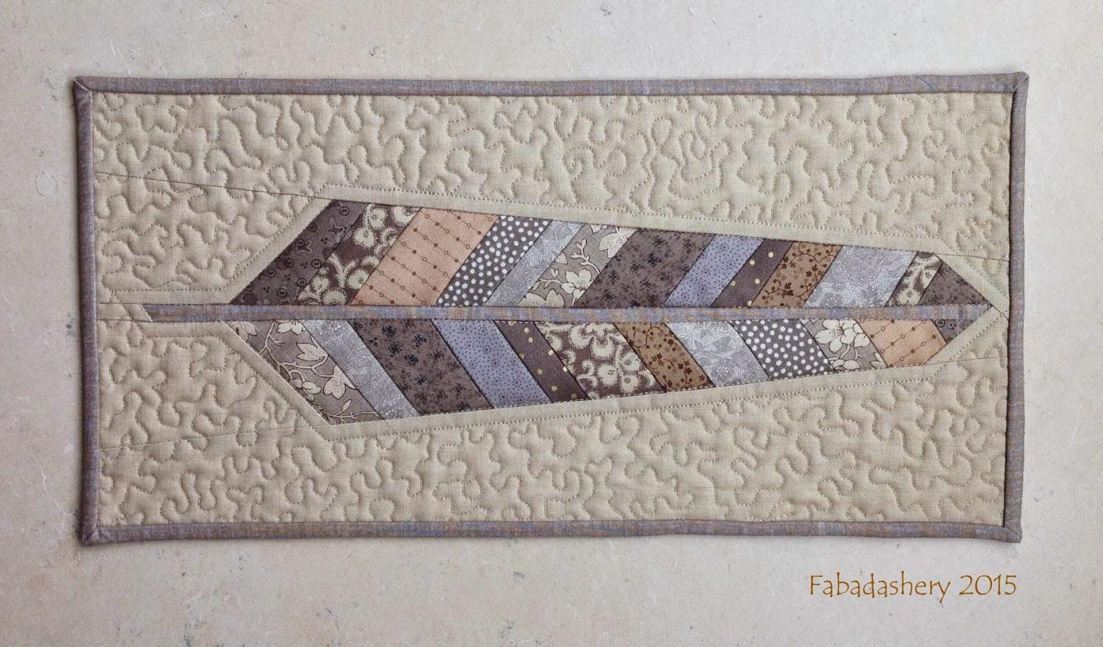 Anna Marie Horner Neutral Scrap Fabric Feather