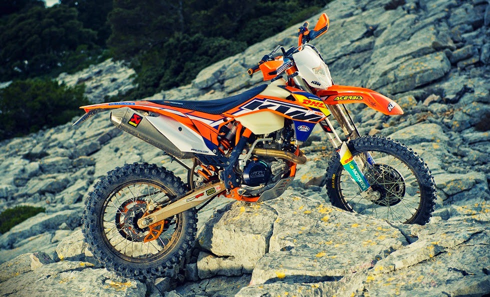 KTM 250 EXC Bikes on hills HD Wallpapers