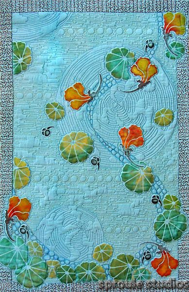 pikowane artystycznie tkaniny