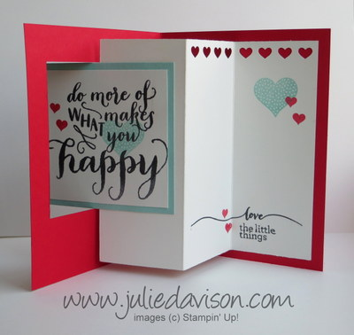 Stampin' Up! Hello Life Pop Out Swing Card #stampinup #occasions www.juliedavison.com