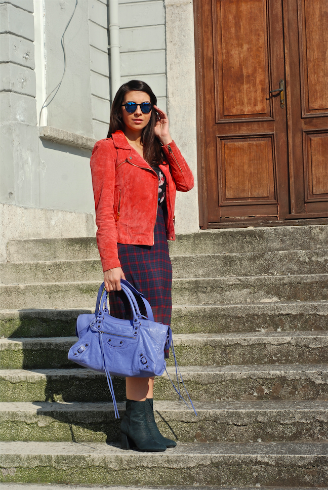 mbifw istanbul fashion week,street style,blogger style,outfit,look,trendydolap,balenciaga mirror shades,balenciaga bag,coral,sara dress,zadig and voltaire boots