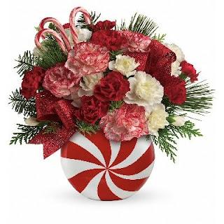 Order a Peppermint Christmas Bouquet
